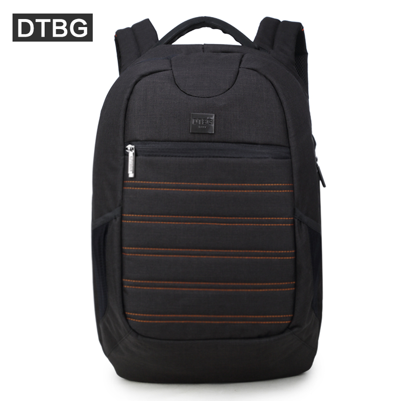 DTBG 15 Inches Black Anti-theft Laptop Backpack with USB Charging Port for Men Women Waterproof School Computer Bag Travel Bag sinpaid anti theft digital dslr photo padded camera backpack with rain cover waterproof laptop 15 6 soft bag video case 50