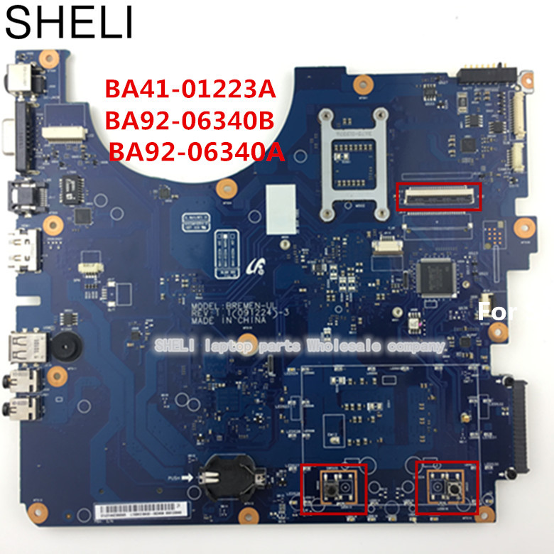 BA92-06340A BA92-06340B for samsung R530 laptop motherboard BA41-01223A ,for intel HD Graphics GL40 DDR3. SHELI  store ba92 05127a ba92 05127b laptop motherboard for samsung np r60 r60 ddr2 intel ati rs600me mainboard