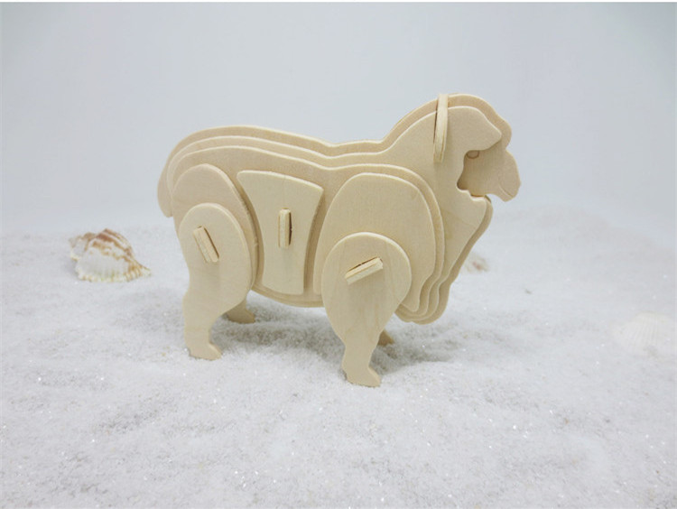DS262 2017 Newly Arrived Wooden 3D Puzzle Toys Sheep Animal Shaped Jigsaw for Elementary Students Free Shipping Russia special preschool children tong yizhi world map flags inserted wooden jigsaw puzzle assembled three dimensional toys no