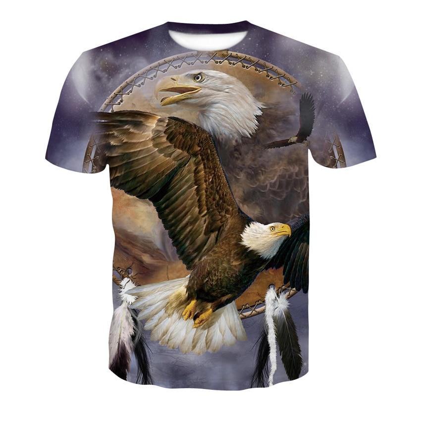 Alisister Tier T Hemd 3d Adler Lion Wolf Eule Druck Sommer T-shirts Männer Frauen Sizem-4xl T Hemd Homme Camiseta Dropship Babykleidung Mädchen