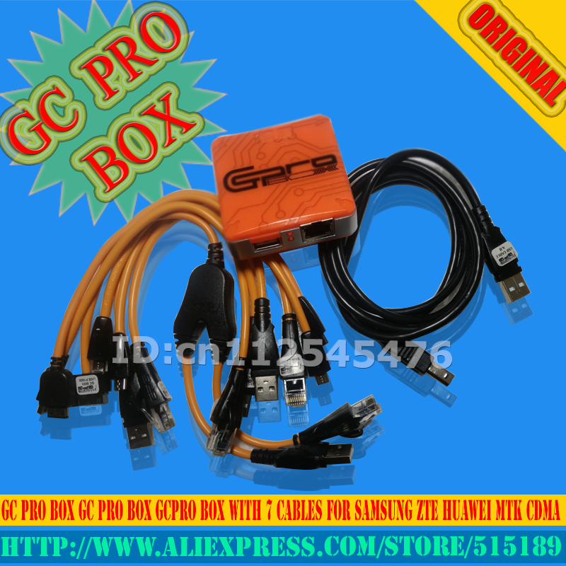 Gsmjustoncct The Newest  Verison  GC Pro Box With 7cables For Samsung For Mtk Free Shipping