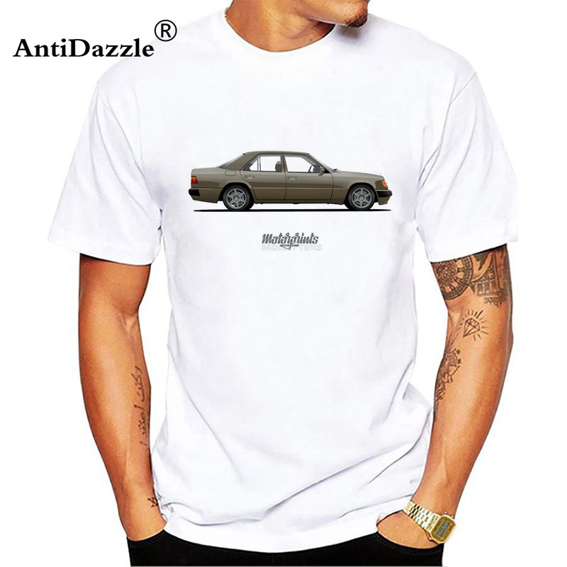 Antidazzle Mercedes W124 500E T Shirt Man's 100% Cotton Short Sleeve Round Neck Tshirt Guy Tops 2017 Customized T-shirt For Man