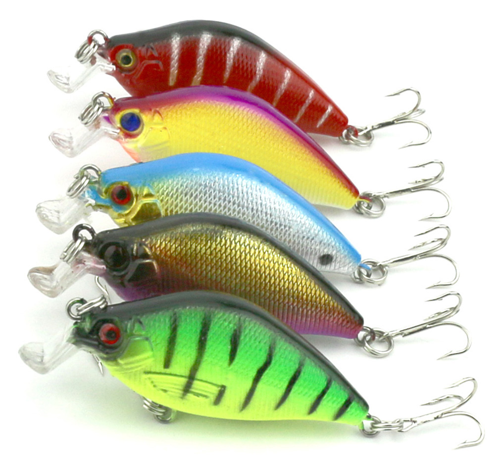 Details about  /VIB Fishing Lure Saltwater Hard Baits 3D Eyes Plastic Wobblers Crankbaits