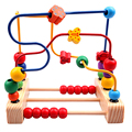 2016 New Hot Sale Multicolor Old Oyuncak Abacus Three Line Around Beads Count Math Toy Round the Pearls Wooden Educational Toys