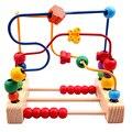 2016 New Hot Sale Multicolor Velho Ábaco Oyuncak Três Linha Brinquedo em torno de Contas Contagem Matemática Rodada as Pérolas De Madeira Educacional brinquedos