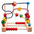 2016 Nueva Venta Caliente Multicolor Viejo Oyuncak Ábaco de Tres Líneas alrededor de Los Granos Recuento Matemáticas Juguete Ronda Perlas De Madera Educativos juguetes