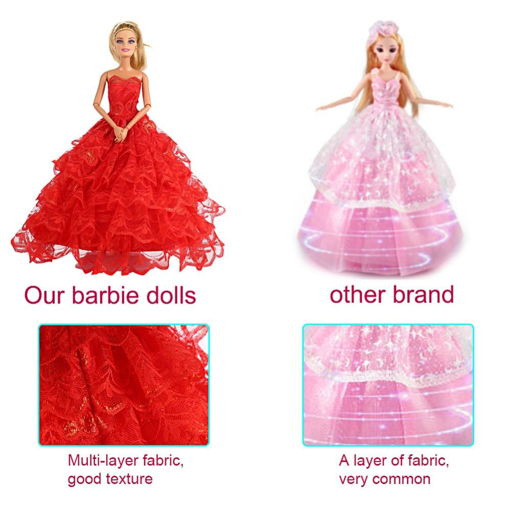 Leadingstar 6 unids multi estilo moda hechos a mano vestidos de boda ...