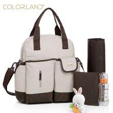 Colorland 11 couleurs multifonctionnel 4 transporter styles étanche de maternité maman à langer bébé sac à couches matelas à langer les bébés soins sacs