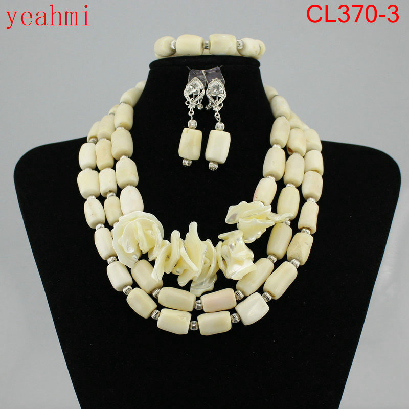 Fashion NEW African Beads Jewelry Set Coral Beads Necklace Set Nigerian Wedding African Jewelry Set Free shipping CL370-2 new fashion nigerian african wedding coral beads jewelry set chunky statement necklace set full beads free shipping cnr345
