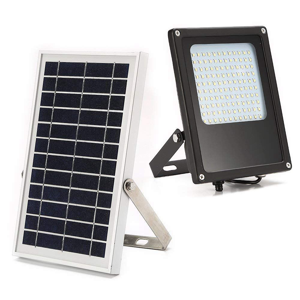 Solar Powered Led Flood Light Ip65 Waterproof Outdoor Security Fixture For Flag Pole Sign