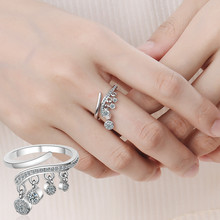 Everoyal Fashion Zircon Round Drop Female Finger Rings Jewelry Trendy 925 Sterling Silver Ring For Women Accessories Lady Gift f i n s vintage old 925 sterling silver rings for women retro round elizabeth portrait finger ring female costume fine jewelry