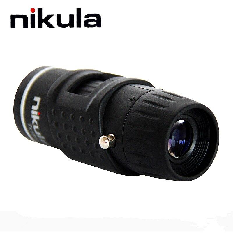 Nikula 7X18 Tasche Monokulare automatische fokus Mini teleskop für Outdoor Camping notwendig Niedrigen gewicht Mit tragen beutel Teleskop