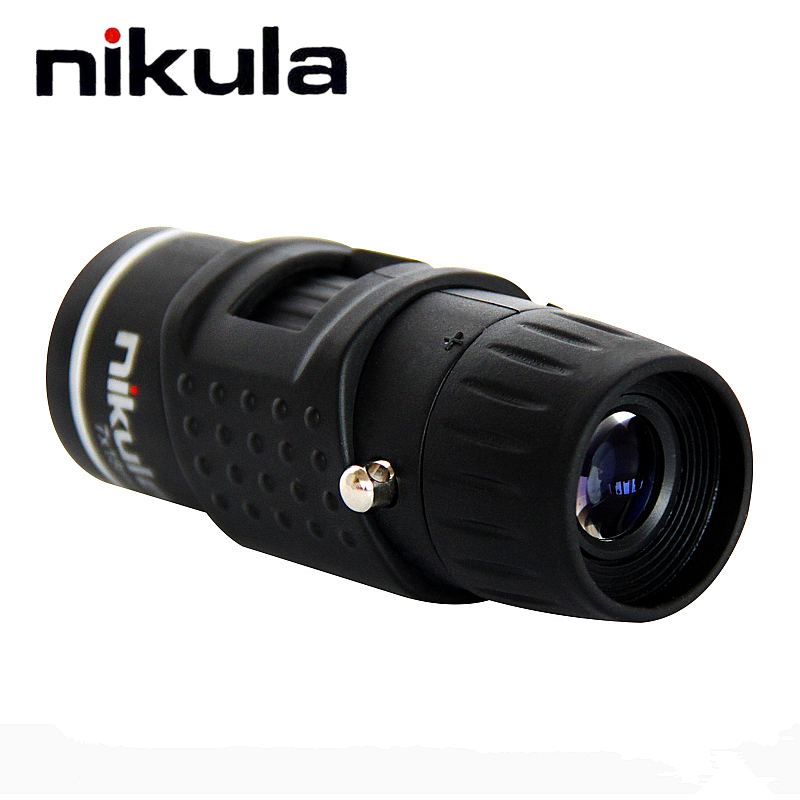 Nikula 7X18 Pocket Monocular automatic focus Mini telescope for Outdoor Camping necessary Low weight With carry pouch Teleskop nikula 7x18 golf portable hd blue film monocular telescope white black