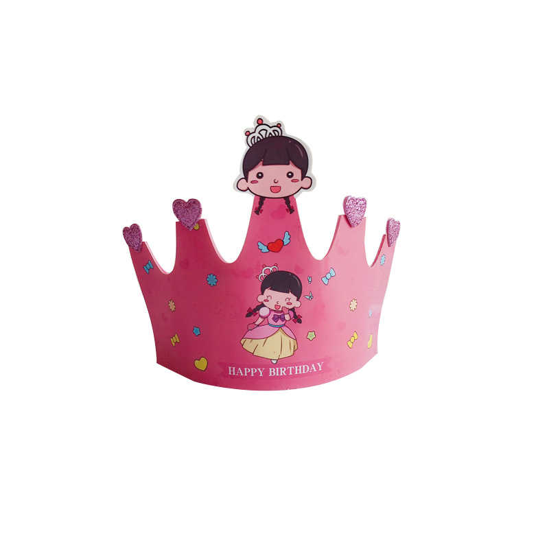 1pc Cute Cartoon Animal Prince Princess Crown Paper Celebration Party Hat Birthday Cap Baby Adult Kids Birthday Party Decor Party Hats Aliexpress The best selection of royalty free princess crown cartoon vector art, graphics and stock illustrations. www aliexpress com