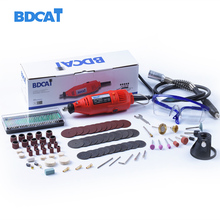 Электрический гравер Dremel bdcat 180 Вт, вращающийся шлифовальный инструмент с переменной скоростью, мини дрель с 140 шт., аксессуары для электроинструментов