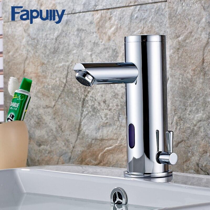 Fapully Ванна бассейна кран горячей и холодной воды краны автоматическая руки сенсорный инфракрасный Сенсор кран Ванная комната раковина кран