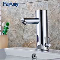 Fapully Bath Basin Faucet Hot Cold Water Taps Automatic Hands Touch Infrared Sensor Faucet Bathroom Sink Faucet