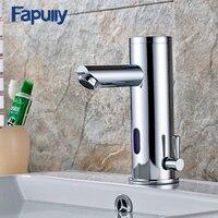 Fapully Wanna Basin Kran Krany Ciepłej Zimnej Wody Dotykowego Ręce Automatyczne Czujnik Podczerwieni Kran Bathroom Sink Kran