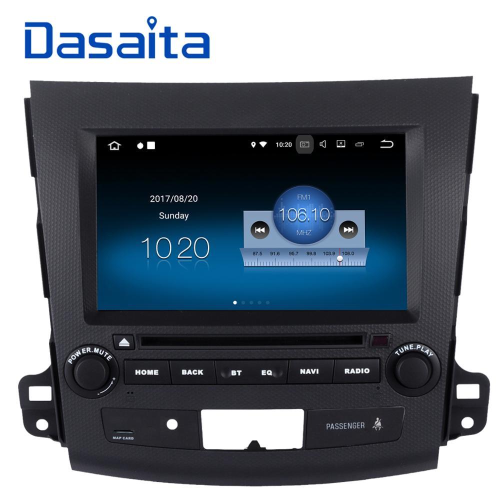 Dasaita 8 Android 7.1 Voiture Lecteur dvd GPS Navi pour Mitsubishi Outlander 2007 avec 2G + 16 Quad Core Auto Radio multimédia HDMI