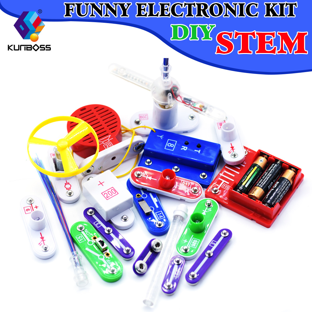 Electronic Blocks Circuit Science Educational Learning Integrated Learn About Electricity For Kids Teacher Wang Stem Physics Lab Basic Kit And Magnetism Experiment Electronics