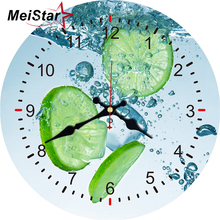 MEISTAR Vintage Round Clock Creative lemon Design Silent Living Corridor Kitchen Home Decor Watches Large Art Wall 2018