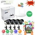 IPCC 4CH 720 P/960 P/1080 P Системы видеонаблюдения 4 Канала IP wi-fi NVR комплект беспроводной система видеонаблюдения ip Camera Kit