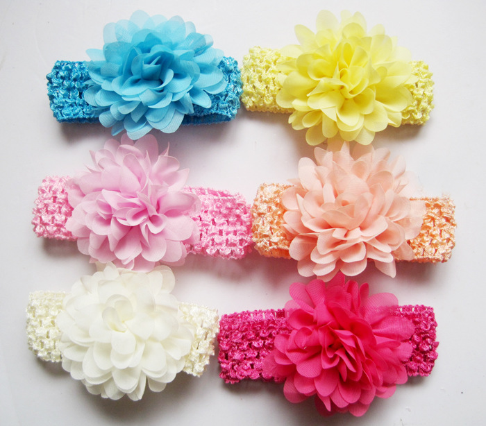 Accessories Girls' Baby Clothing Selfless 30pc/lot Baby Girls Headbands 6 Months-3 Year New Chiffon Flower Children Color Head Band Baby Mix