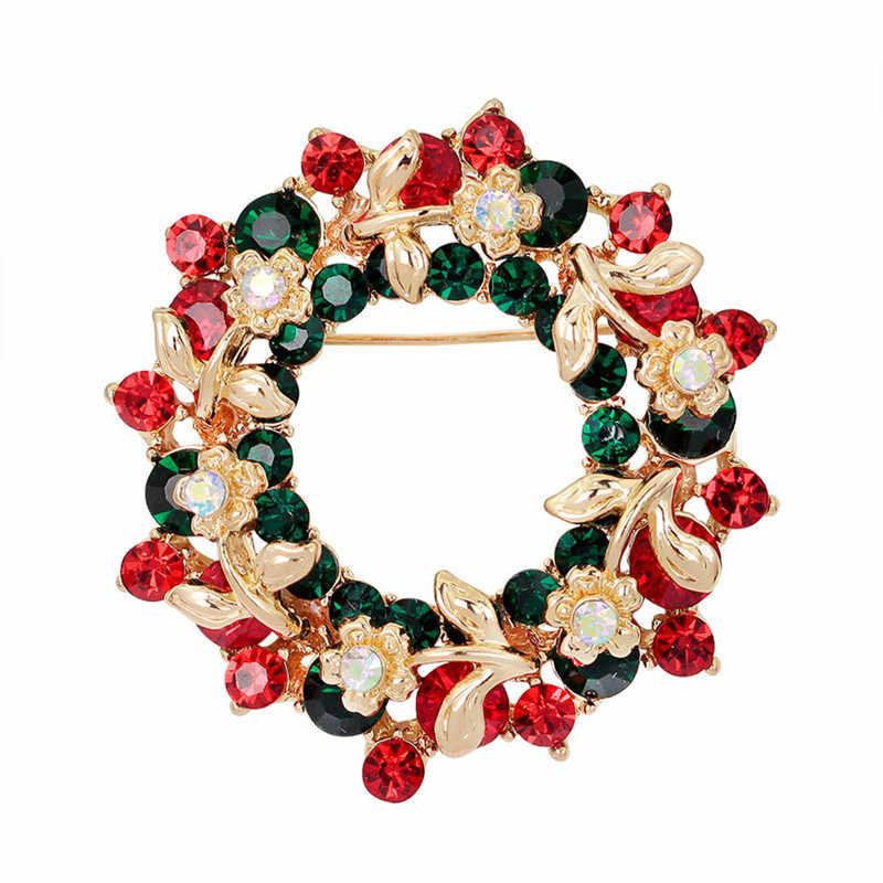 Güzel Moda Yeni Yıl Noel Çizmeler Broş Noel Baba Ayakkabı Arabası Rhinestone Broş Takı