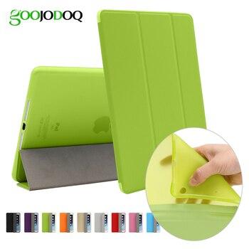 For iPad Pro 9.7 Case for iPad Air 2 Silicone TPU Soft Case Ultra Slim PU leather Smart Cover Folio Stand Auto Sleep/Wake up