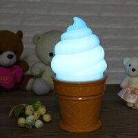 New Arrivals Ice Cream Cone Shaped Desk Table LED Lamp Atmosphere Night Light For Kids Children