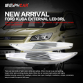 Free Shipping IPHCAR External Install Outside of The Headlight Directly Daytime Running Lights for Ford 2012-2015 Kuga