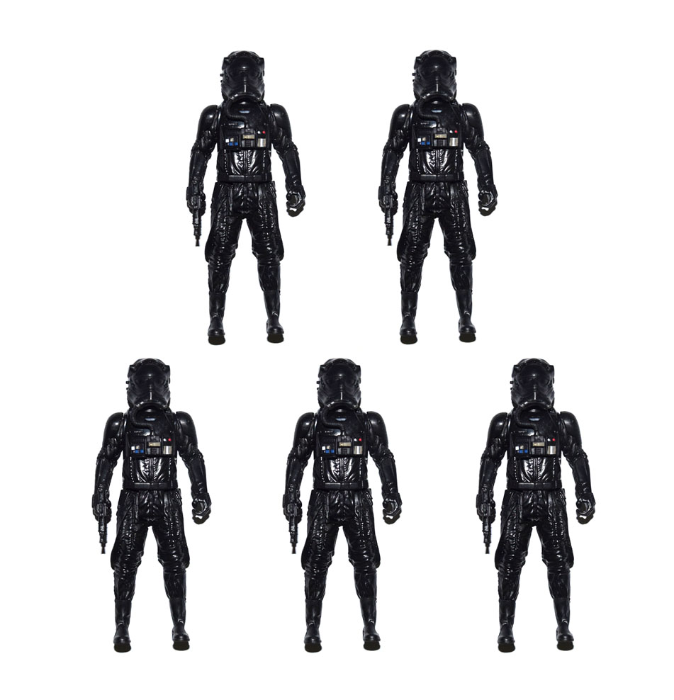 Lot Of 5 Star Wars Tie Fighter Pilot With Removable Helmet 3.75 Loose Action Figure Back To Search Resultstoys & Hobbies
