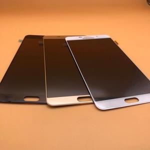 Image 2 - شاشة جديدة فائقة AMOLED LCD لهاتف سامسونج Galaxy A9 شاشة رقمية تعمل باللمس 2016 A9 Pro A910 A9100 قطع غيار