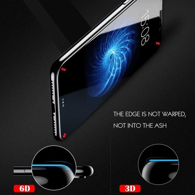 Protecteur D'écran en verre Pour iPhone 8 7 6 S Plus X 4