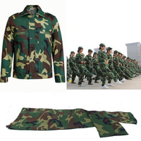 Army Military Training Tactical Uniform Suit Shirt + Pants Camo Camouflage Combat Uniforms Army Men's Student Thin Work Wear Set
