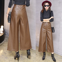 Autumn And Winter Fur Wide Leg Pants 9 Points Pants Straight Thick Feet Are Thin Wide