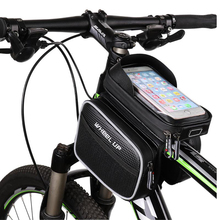 Rianproof Cycling Bicycle Saddle Tube Bag Mountain Bike Front Beam Touch Screen Mobile Phone Bag Riding Equipment Accessories waterproof mtb road bike front tube bag 6 inch phone touch screen saddle bag pu bike cycling beam saddle bag bike accessories