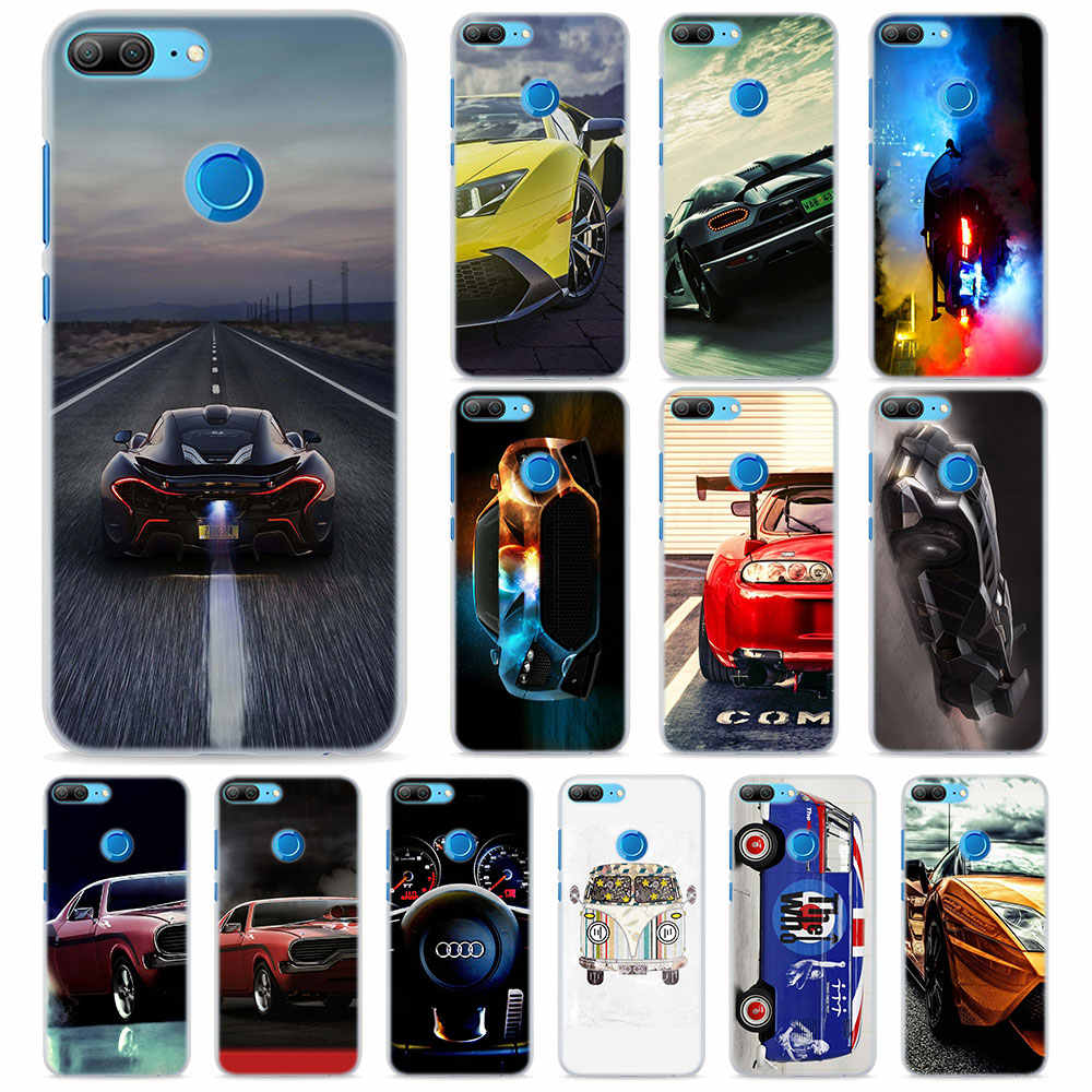 Cool Super car Phone Cases for Huawei Honor 8 9 10 Lite Hard PC Case Cover for Honor 4C 6C Pro 6x 7x 8x 7s Case