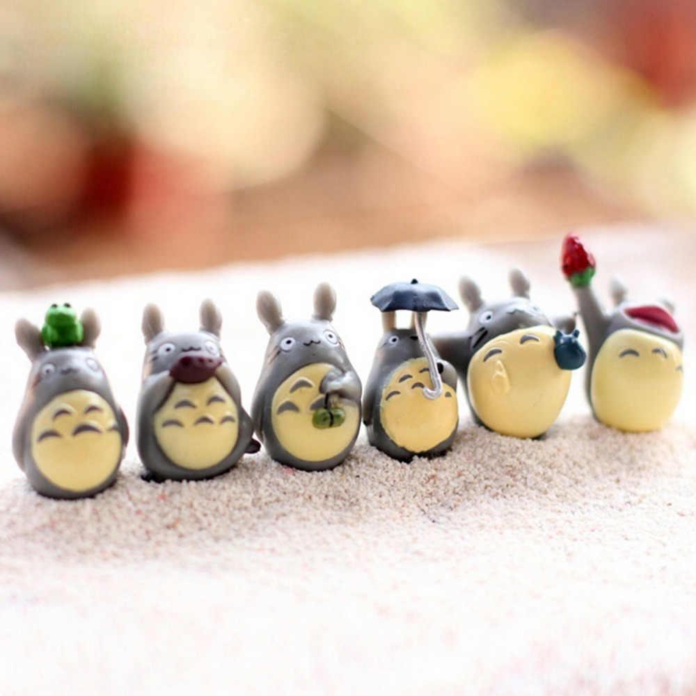 新 12 個かわいいとなりのトトロミニフィギュア DIY 苔マイクロ風景おもちゃ卸売新妖精ガーデン樹脂装飾