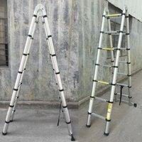88 см 2x1,9 утолщение алюминий выдвижной многоцелевой складной лестница Double Face телескопическая лестница стремянка новое поступление