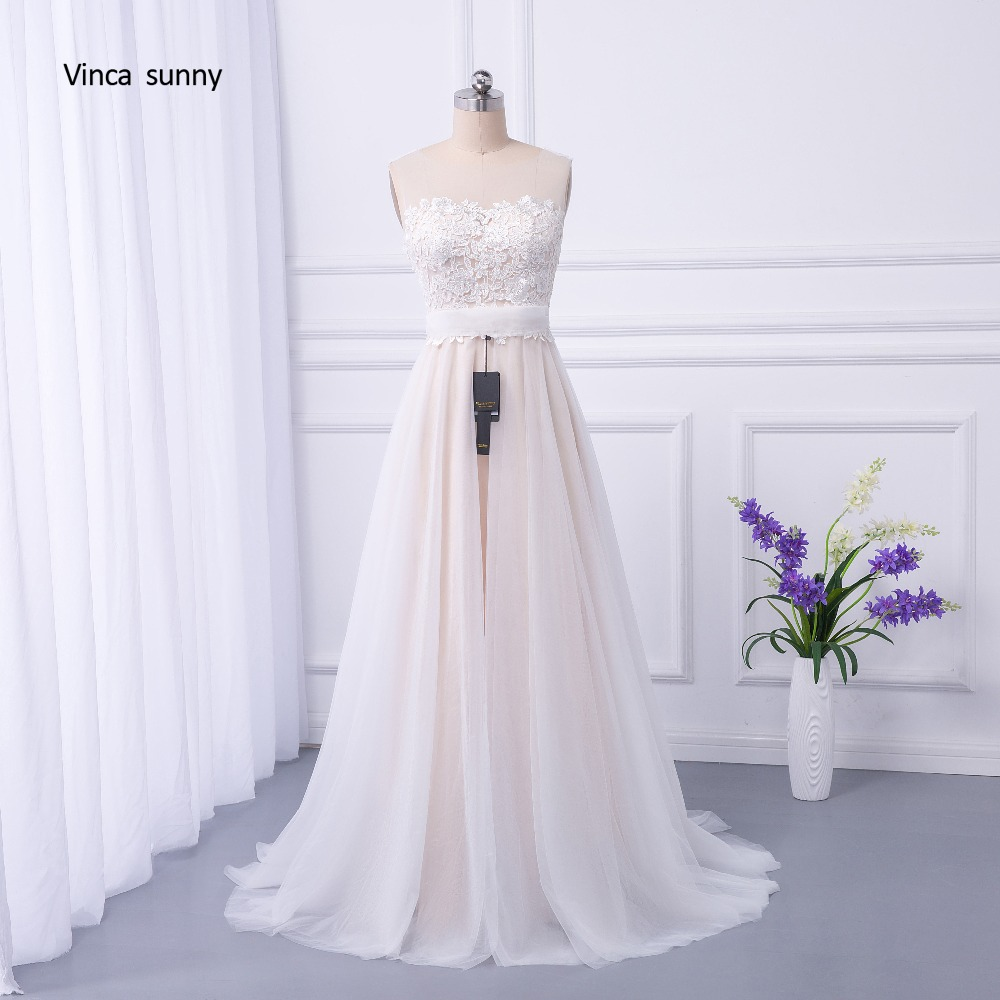 Vinca Sunny Bohemian Wedding Dresses French Lace