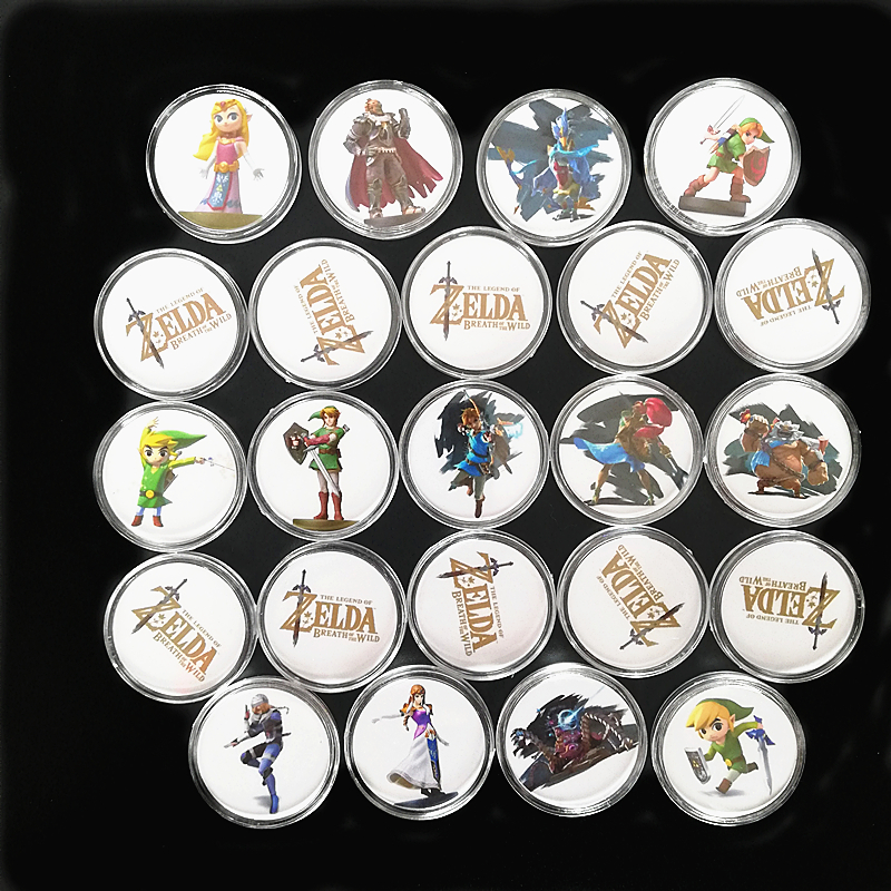 2019 New Data Young Link Set 24Pcs/set <font><b>Zelda</b></font> Breath for the Wild NFC <font><b>Card</b></font> Of <font><b>Amiibo</b></font> Collection Coin Tag Ntag215 Fast Shipping image