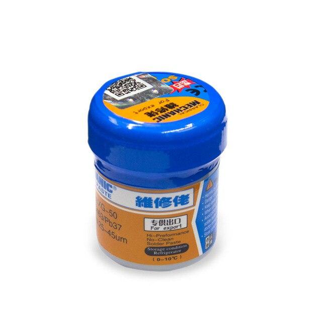 High quality Solder Paste  Original HK MECHANIC XG-50 Sn63/Pb37 For soldering iron Hakko 936 Saike 852D Soldering flux
