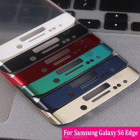 For Samsung S 6 Edge Full Cover Plating Glass Screen Protector For Samsung Galaxy S6 Edge