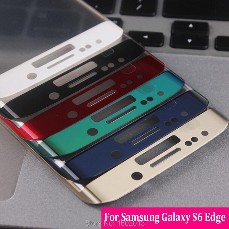 imágenes para Para Samsung S 6 Edge planchas de las tapas Protector de pantalla para Samsung Galaxy S6 borde G925 teléfono película de pantalla cristal 6 Color
