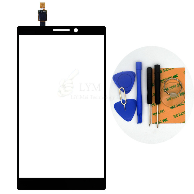 """Black TP for Lenovo Vibe Z2 Pro K920 6.0"""" Touch Screen Digitizer Front Glass Panel Sensor No LCD Replace Part Free Shipping+Tool"""