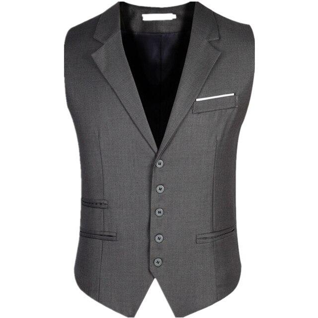 autumn new fashion leisure men's suit vest sleeveless jacket vest V-Necke slim vest plus size