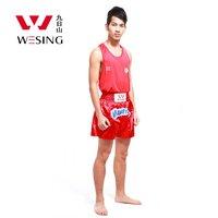 Wesing Professional Muay Thai Suits T shirt Shorts Muay Thai Boxing Uniform MMA Training Competition Clothes Large Size