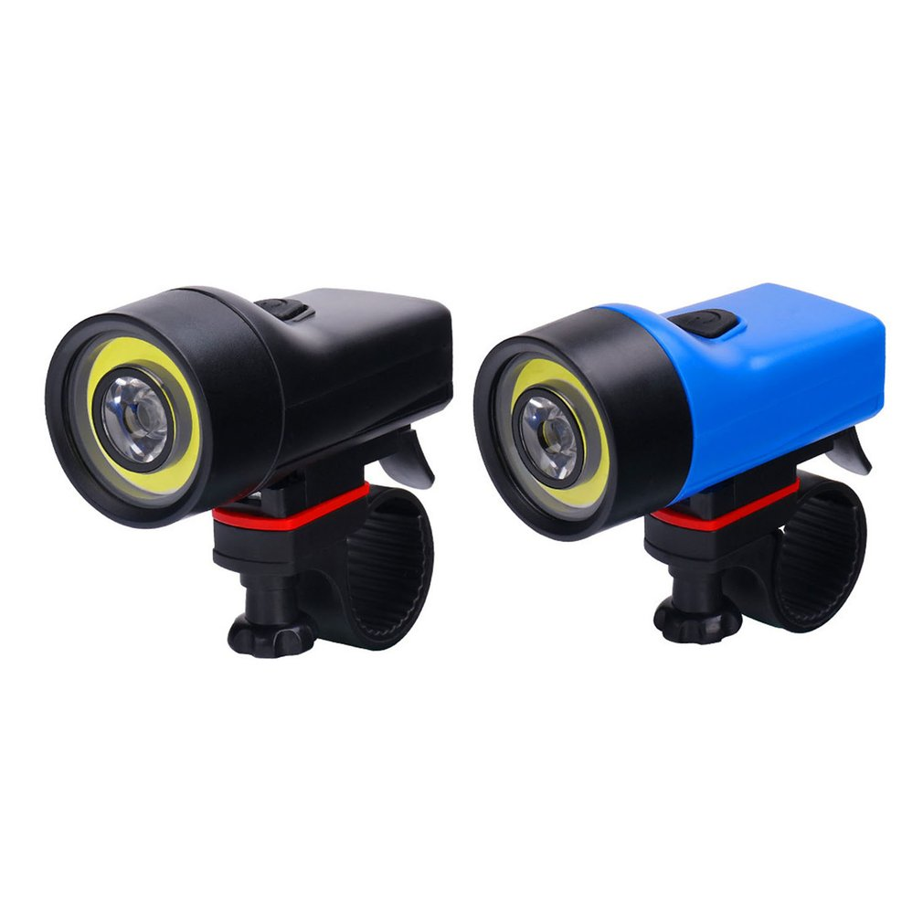 New Bicycle Light Outdoor Riding Highlight COB Headlights Mountain Bike Night Riding Safety Warning Lights