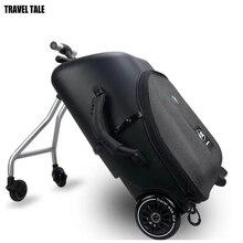 REISE TALE Kinder roller koffer Faul tragen auf roll gepäck fahrt auf trolley tasche für baby